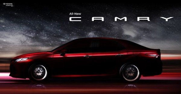 Teased Toyota Camry 2019 side view