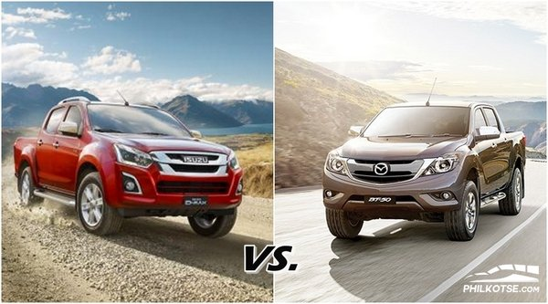 Isuzu dmax vs mazda bt50