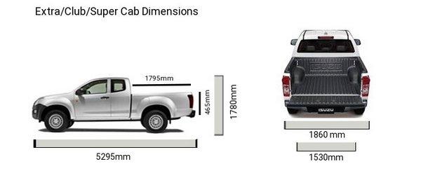 isuzu dmax dimensions