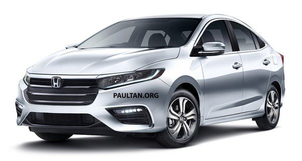 Honda City 2019 rendering angular front