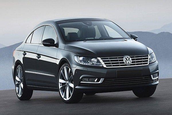 Sleek black Volkswagen CC sedan