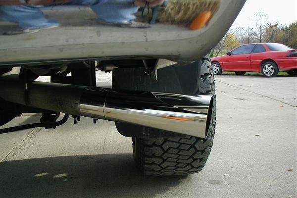 car with a silly exhaust tip