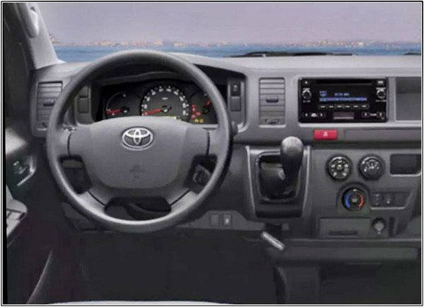 Toyota Hiace 2019 dashboard area