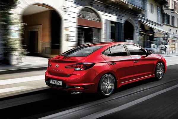 Red Hyundai Elantra Sport