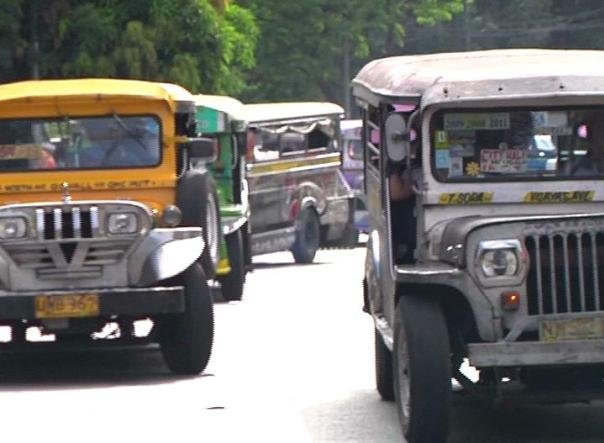 Jeepneys on the road