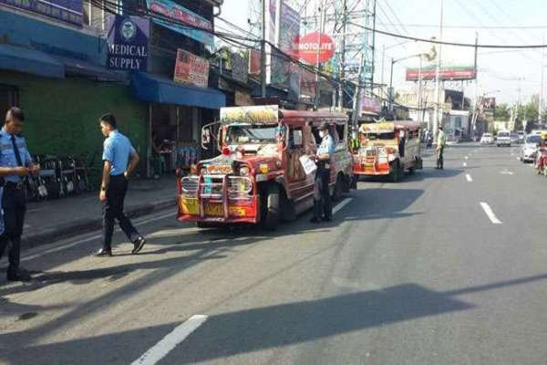 Jeepney on the road