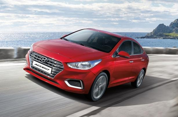 Hyundai Accent 2019 on the road