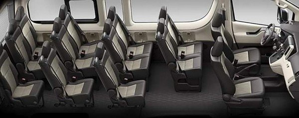 Toyota Hiace 2020 seats