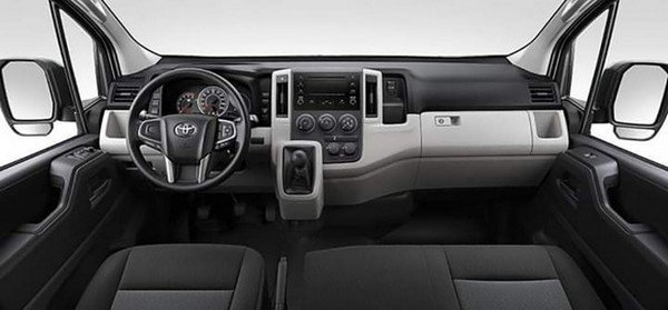 Toyota Hiace 2020 dashboard area