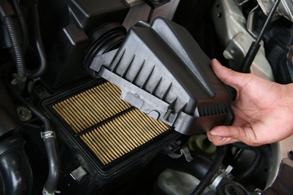 take off air filter cover