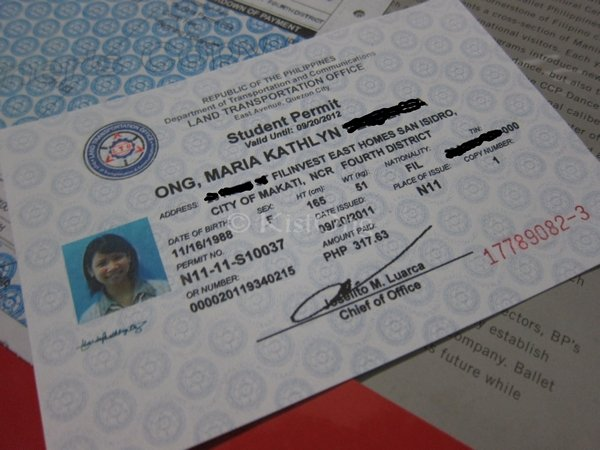 student driving license validity Philippines