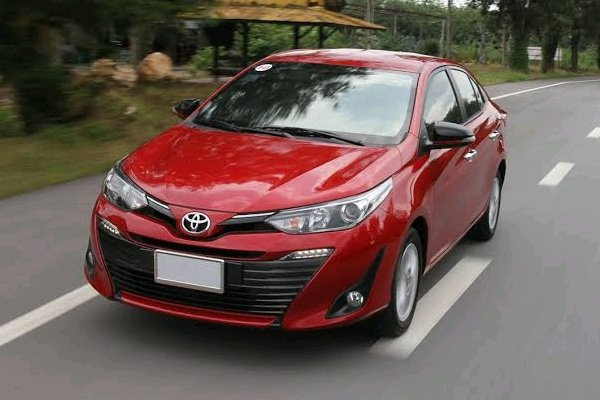 Toyota Vios on the road