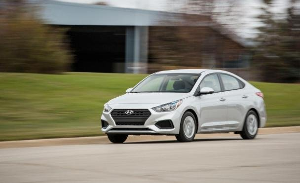 Hyundai Accent on the road
