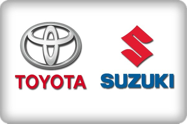 Toyota and Suzuki logos side by side