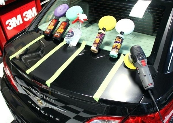 different type of materials used in car's paint