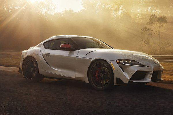 Toyota Supra 2019 on the road