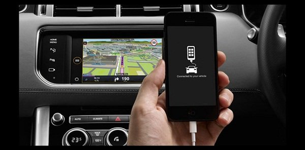 phone connected to the infotainment system