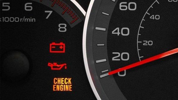 Engine light indicator