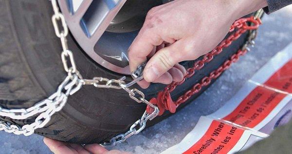 Check the tire chain