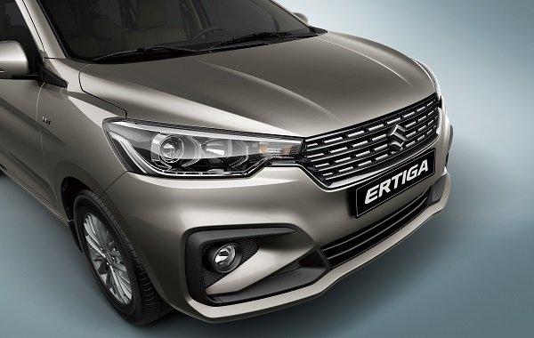 A focus shot of the Suzuki Ertiga 2019's new grille