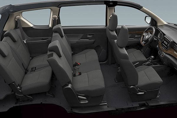 A look into theSuzuki Ertiga 2019 Black Edition's passenger cabin