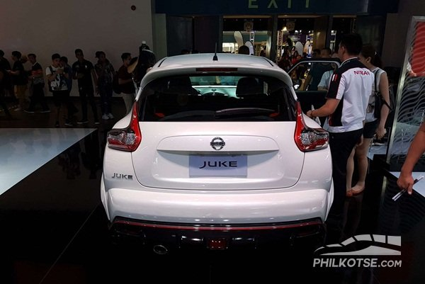 A picture of the rear of the Nissan Juke Nismo RS