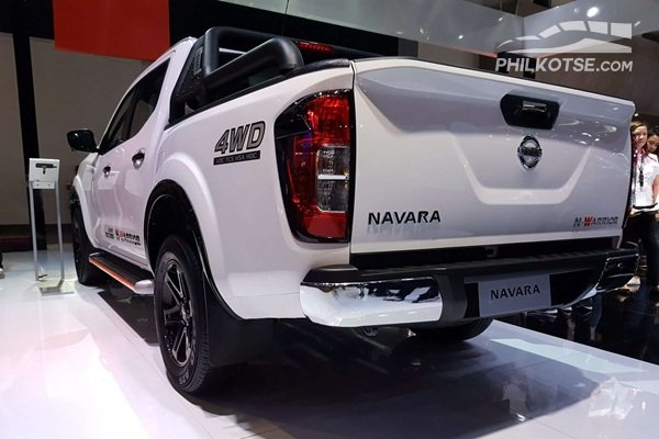 A picture of the Navarra N-Warriors rear end highlighting it's tailgate and rear bumper