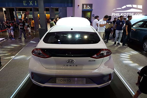 Another rear shot of the Ioniq's rear end