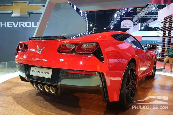A shot of the rear of the Chevrolet Corvette 2019