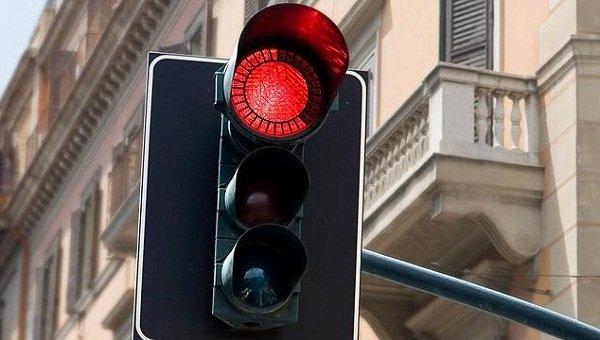 Red traffic light - traffic regulations
