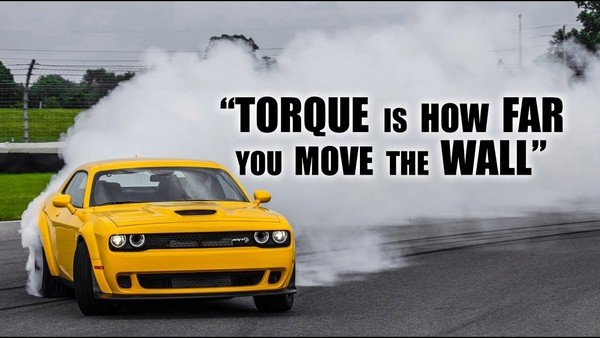 Torque is how far you move the wall