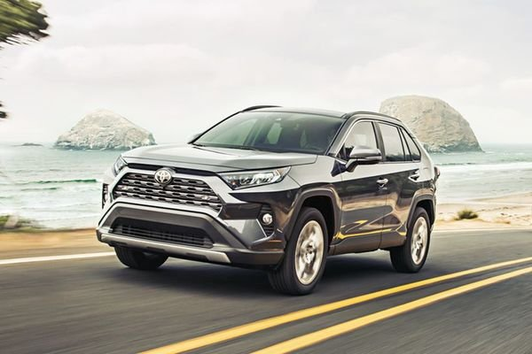 Toyota RAV4 2019 on the road