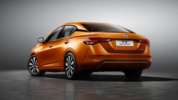 A rear view picture of the new Nissan Sylphy 2020