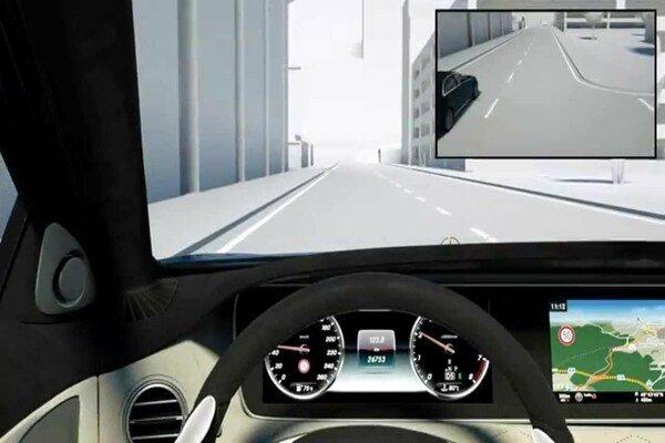 Man driving illustration