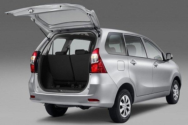 Toyota Avanza 2019 cargo space