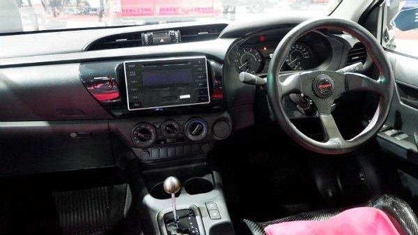 Toyota Hilux Revo Z Black Mamba inside cabin