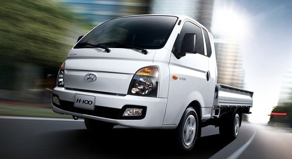 A picture of the H-100 Hyundai utility vehicle