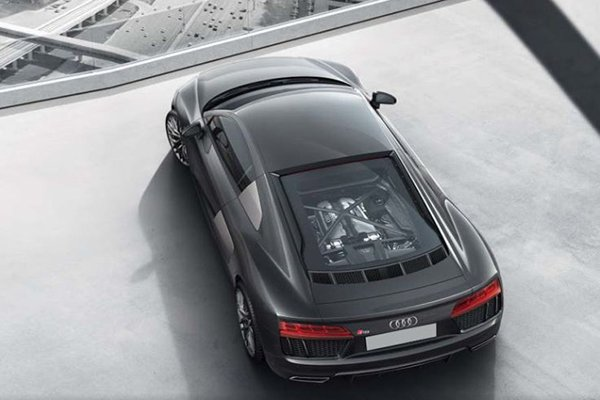 An overhead view of the Audi R8