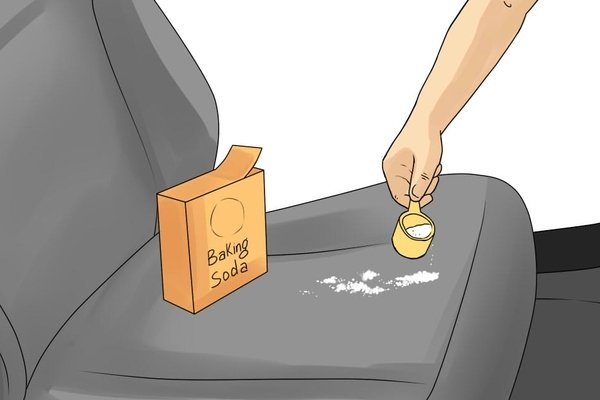 Use baking soda to clean car seat