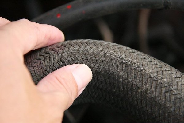 Squeeze the radiator hose