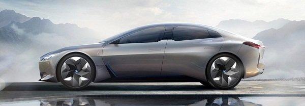 BMW i4 EV side view