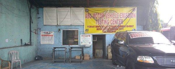 Emission testing center