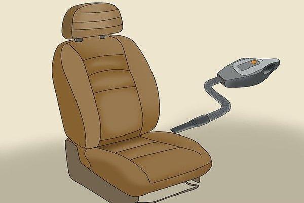 car seat and vacuum