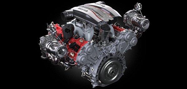 Ferrari 488 Pista Spider engine