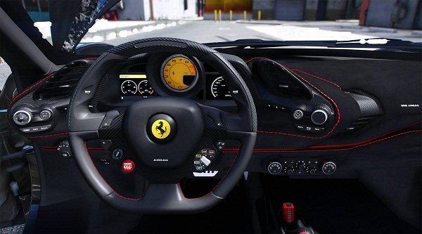 Ferrari 488 Pista Spider Interior