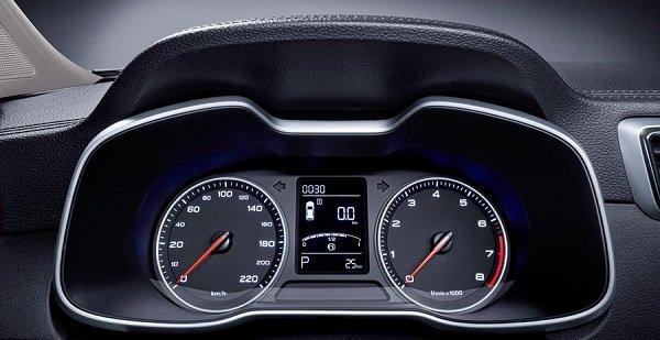 MG ZS 2019 specs: speedometer