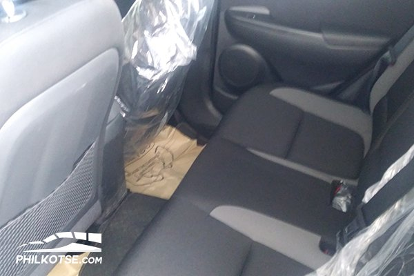 A picture of the test Kona's rear passenger seating