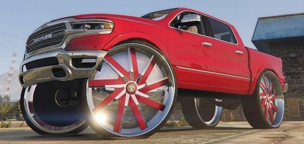 Car with big wheels