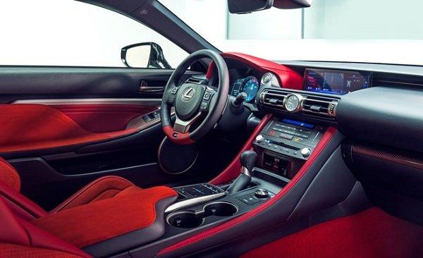 More updates in the interior of Lexus RC F 2020