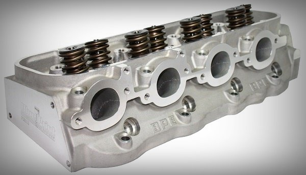 A cylinder head controls the ports the allow the intake air flow inside the cylinder during the intake stroke process